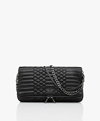Zadig & Voltaire Rock Mat Lamb Leather Schoulder Bag/Clutch - Black