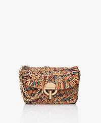 Vanessa Bruno Moon Raffia Schoudertas - Multi-color