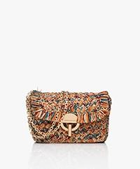 Vanessa Bruno Moon Raffia Shoulder Bag - Multi-color