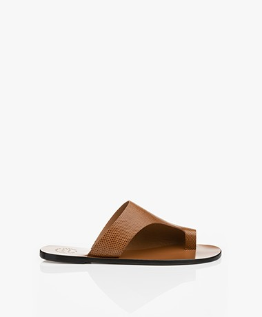 ATP Atelier Rosa Structured Leather Sandals - Brown