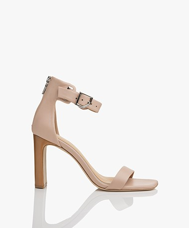 Rag & Bone Ellis Leather Heeled Sandals - Nude