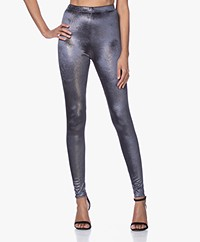 Mes Demoiselles Dance Velours Lurex Legging - Charcoal