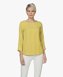 BY-BAR Dorris Viscose Twill Blouse - Lemon