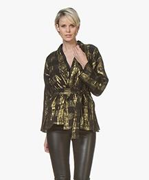 Mes Demoiselles Magique Kimono Blazer met Lurex - Zwart