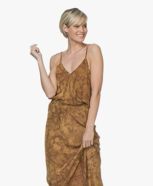 Mes Demoiselles Muse Pure Silk Top - Ocre