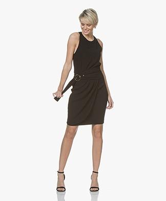 ba&sh Stella Crepe Dress with Racerback - Black