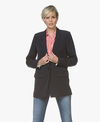 Closed Cox Lange Twill Blazer - Dark Night
