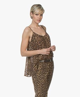 Mes Demoiselles Fauve A-line Leopard Print Top - Brown