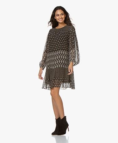 Vanessa Bruno Naouel Chiffon A-line Dress - Black