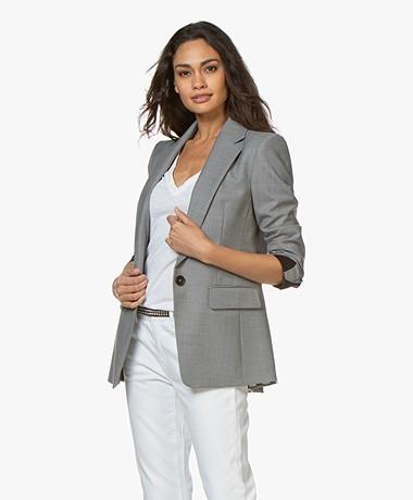 Drykorn Atlin Wool Blend Blazer - Grey