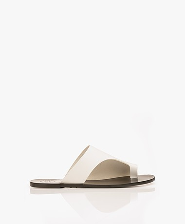 ATP Atelier Rosa Leather Sandals - White