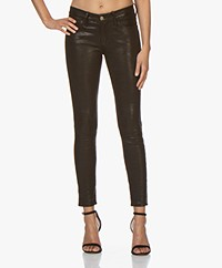 FRAME Le Skinny De Jeanne Leather Pants - Washed Black