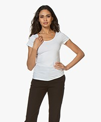 Filippa K Cotton Stretch Scoop Neck T-shirt - Wit