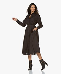 Mes Demoiselles Claudel A-line Shirt Dress - Black
