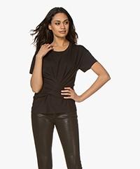 Rag & Bone Aimie Tie T-shirt - Zwart