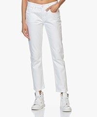 Current/Elliott The Fling Relaxed Fit Jeans - White 0 Years Worn
