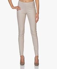 LaSalle Leather Slim-fit Pants - Beige