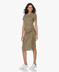 Rag & Bone Ina Jersey Dress with Cord Detail - Light Olive Green