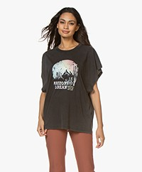 IRO Smoky Oversized Print T-Shirt - Black Stone