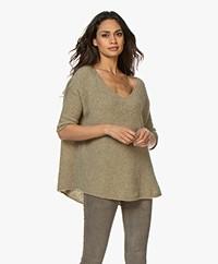 American Vintage Fogwood V-neck Sweater - Dinosaur Melange
