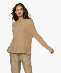 By Malene Birger Ana Alpacamix Trui met Rib Mouwen - Tiger Eye