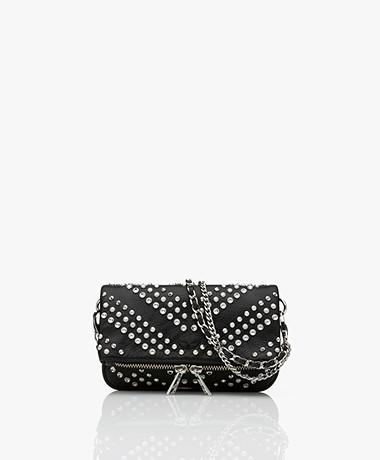 Zadig & Voltaire Rock Nano Studs Shoulder Bag/Clutch - Black