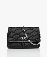 Zadig & Voltaire Rocky Quilted Lamb Skin Cross-body/Shoulder Bag - Black