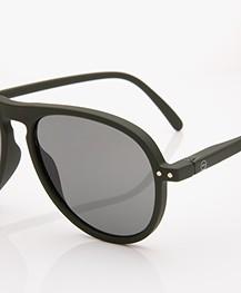 IZIPIZI SUN #I Sunglasses - Khaki Green/Grey Lenses