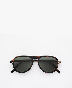 IZIPIZI SUN #I Sunglasses - Tortoise/Green Lenses