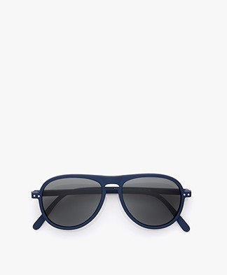IZIPIZI SUN #I Sunglasses - Navy Blue/Grey Lenses