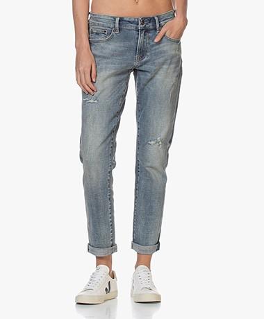 Denham Monroe Vegas Girlfriend Fit Jeans - Blauw