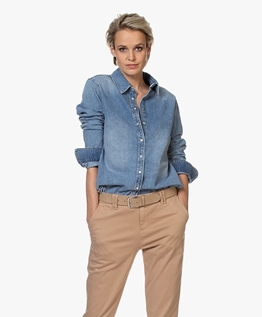 Denham Jessie Denim Blouse - Light Indigo