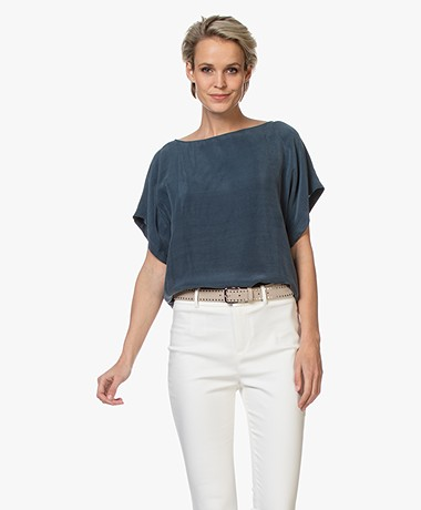 Drykorn Somia Cupro Blouse - Blue