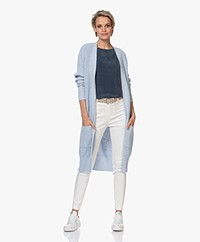 Josephine & Co Brandon Slub Cotton Cardigan - Light Blue