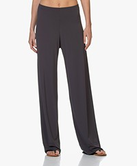 no man's land Crepe Jersey Pants with Wide Legs - Slate