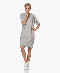 by-bar Lena French Terry Sweater Dress - Grey Melange