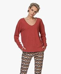 Denham Showa Scoop Neck Sweater - Washed Ochre