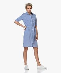 Belluna Bruno Striped Shirt Dress - Blue/White
