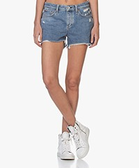 Rag & Bone Dre Low-rise Denim Short - Misha Blauw