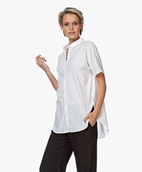 Closed Senna Poplin Blouse met Korte Mouwen - Wit