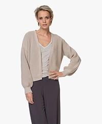 by-bar Bar Short Cotton Rib Cardigan - Linen