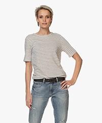 by-bar Maya Gestreept Linnenmix T-shirt - Linen