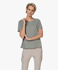 Closed Slub Jersey A-lijn T-shirt - Dusty Pine
