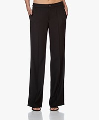 LaDress Geneva Crepe Satin Pants - Black