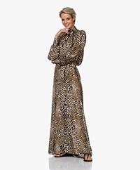 Zadig & Voltaire Run Leopard Print Satin Maxi Dress - Naturel