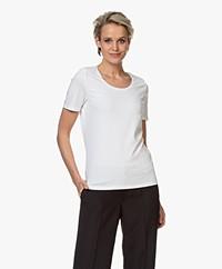 Repeat Katoenen Basis Ronde Hals T-shirt - Wit