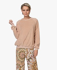 by-bar Teddy Slub French Terry Sweater - Nude