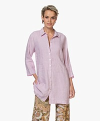 Belluna Jennifer Linen Tunic Blouse - Rose