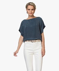 Drykorn Somia Cupro Blouse - Blauw