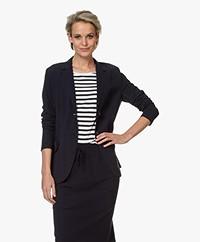 Josephine & Co Rachel Bonded Travel Jersey Blazer - Navy